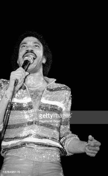 Singer and song writer Lionel Richie performs at the Rosemont Horizon in Rosemont, Illinois in January 1983.
