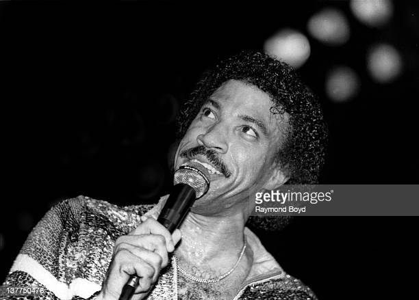 Singer Lionel Richie performs at the Rosemont Horizon in Rosemont Illinois in 1983