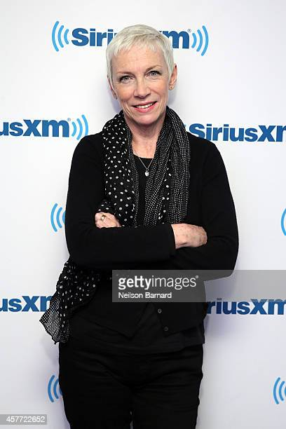 Singer and songwriter Annie Lennox attends SiriusXM's Iconography Annie Lennox'' on SiriusXM's OutQ Channel hosted by Larry Flick at the SiriusXM...