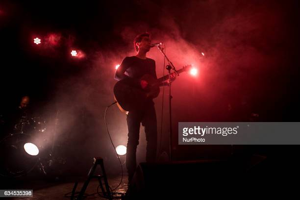 Singer and songwriter Antonio Diodato performs live at the Monk Club Rome Italy on 08 February 2017
