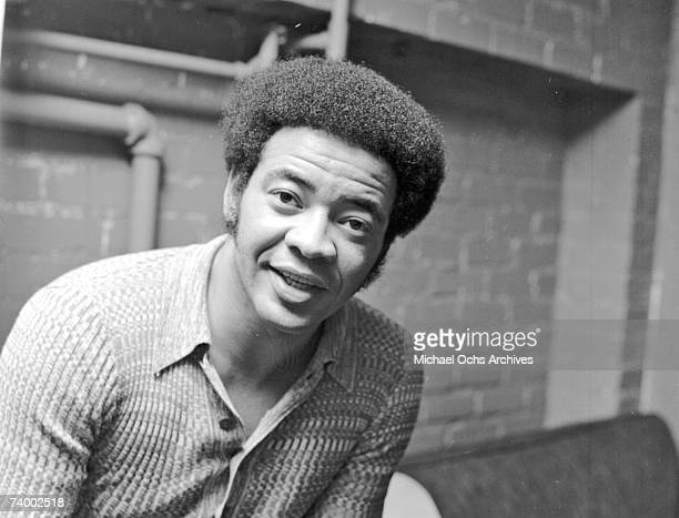 Singer and songwriter Bill Withers poses for a portrait backstage on September 16 1971 in Los Angeles California