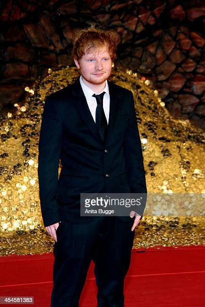 """Singer and songwriter Ed Sheeran attends the """"The Hobbit: The Desolation of Smaug"""" European Premiere at Cinestar on December 9, 2013 in Berlin,..."""