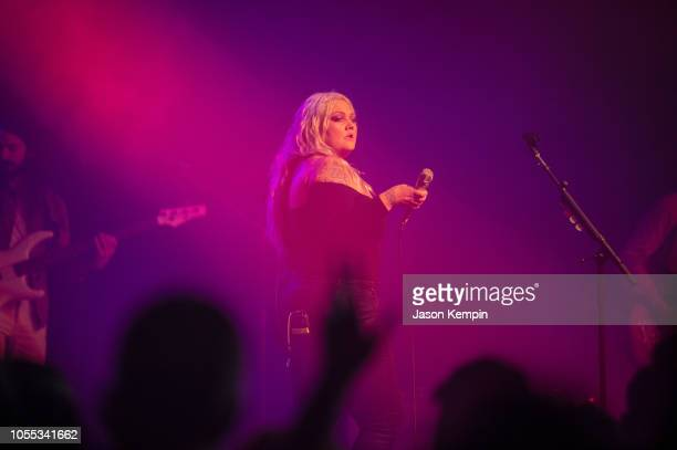 Singer and songwriter Elle King performs at Marathon Music Works on October 29 2018 in Nashville Tennessee