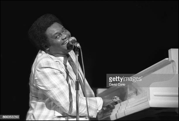 B singer and songwriter Fats Domino performs at the Hammersmith Odeon on October 21 1981 in Liondon England Photo By David Corio/getty Images