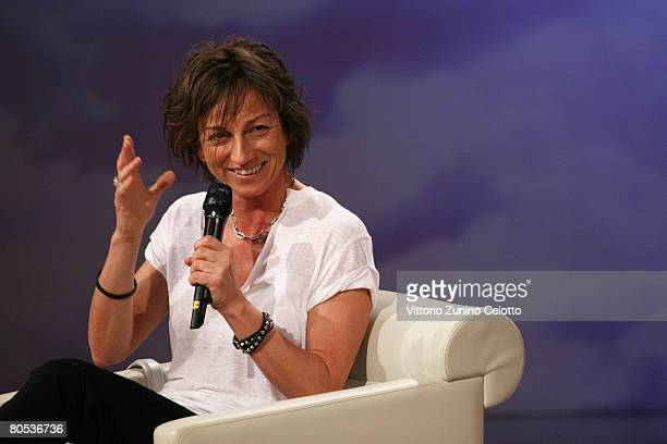 Singer and songwriter Gianna Nannini visits 'Che Tempo Che Fa' tv show held at RAI studios on April 5 2008 in Milan Italy