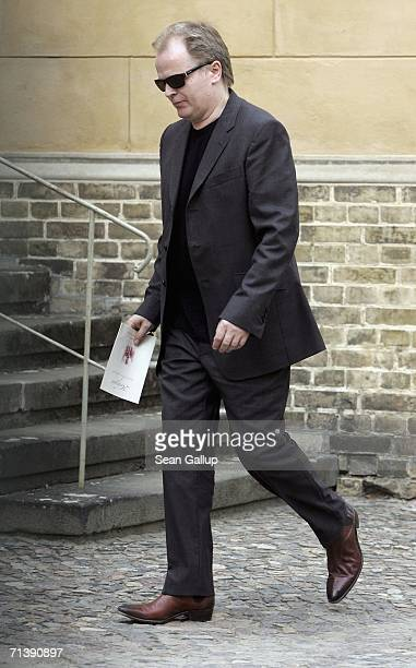 Singer and songwriter Herbert Groenemeyer attends the wedding of German TV host Guenther Jauch on July 7 2006 in Potsdam Germany