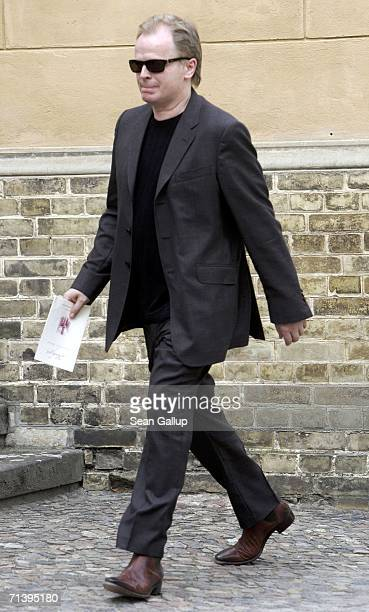 Singer and songwriter Herbert Groenemeyer attends the wedding of German TV host Guenther Jauch at the Friedenskirche church on July 7 2006 in Potsdam...