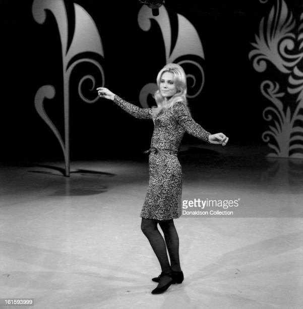 Singer and songwriter Jackie De Shannon performs on the NBC TV music show 'Hullabaloo' in November 1965 in New York City New York