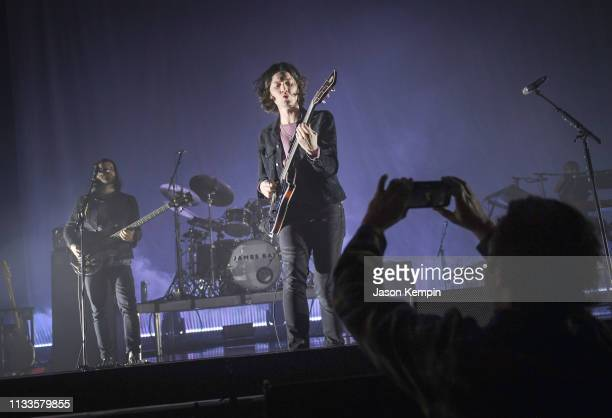 Singer and songwriter James Bay performs at The Ryman Auditorium on March 03, 2019 in Nashville, Tennessee.