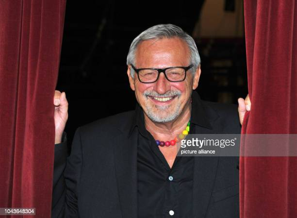 Singer and songwriter Konstantin Wecker pictured at a press event at Circus Krone in Munich Germany 4 May 2017 Wecker is performing four concerts at...