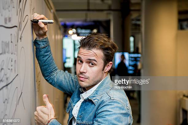 Singer and songwriter Kris Allen speaks about his new album Letting You In at AOL Studios In New York on March 18 2016 in New York City