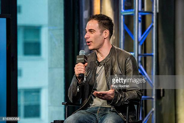 Singer and songwriter Kris Allen speaks with moderator Joe Levy about his new album Letting You In at AOL Studios In New York on March 18 2016 in New...