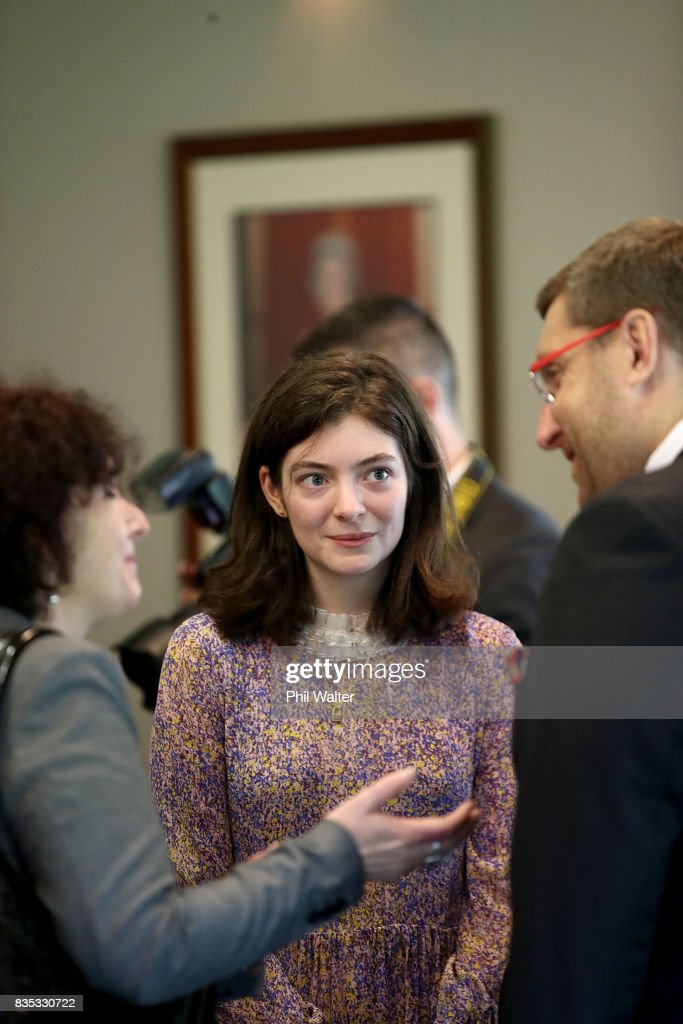 Singer and songwriter Lorde at a state luncheon for Croatian President Kolinda Grabar-Kitarovicon at Government House August 19, 2017 in Auckland, New Zealand. President Kolinda Grabar-Kitarovic is on a four day visit to New Zealand.