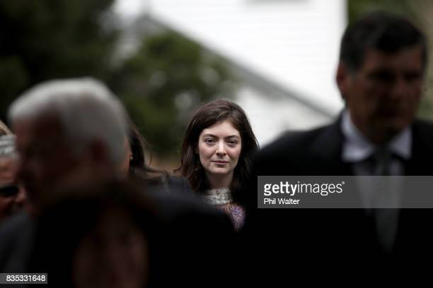 Singer and songwriter Lorde at a state luncheon for Croatian President Kolinda Grabar-Kitarovicon at Government House August 19, 2017 in Auckland,...