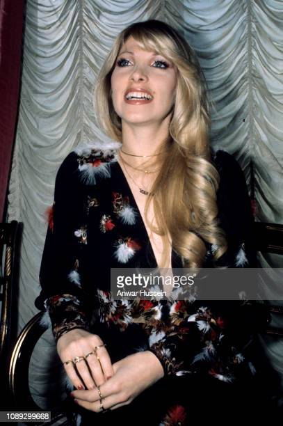 Singer and songwriter Lynsey de Paul at the height of her music career success circa 1972 in London England
