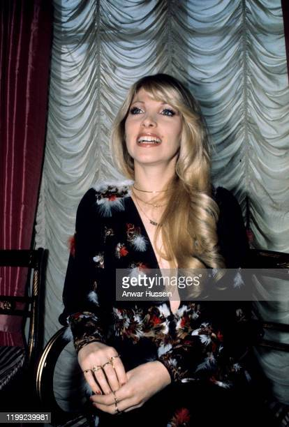 Singer and songwriter Lynsey De Paul photographed at the height of her music career success in London circa 1972 in London England