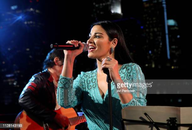 Singer and songwriter Maite Perroni celebrates Proactiv X Sephora Partnership at a private concert with fans on February 07 2019 in Los Angeles...