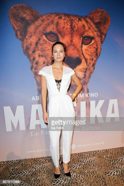Singer and songwriter Nina Maleika attends the 'Maleika' Film Premiere at Zoo Palast on October 4 2017 in Berlin Germany