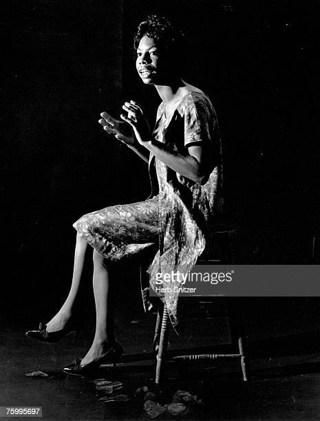 Singer and songwriter Nina Simone poses for a portrait in 1959 in New York City New York