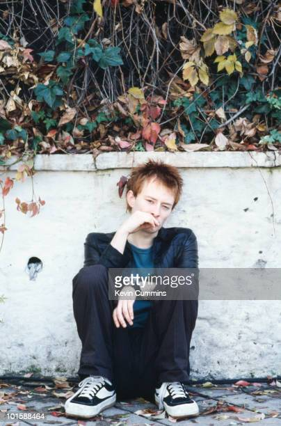 Singer and songwriter of British band Radiohead Thom Yorke in 1995