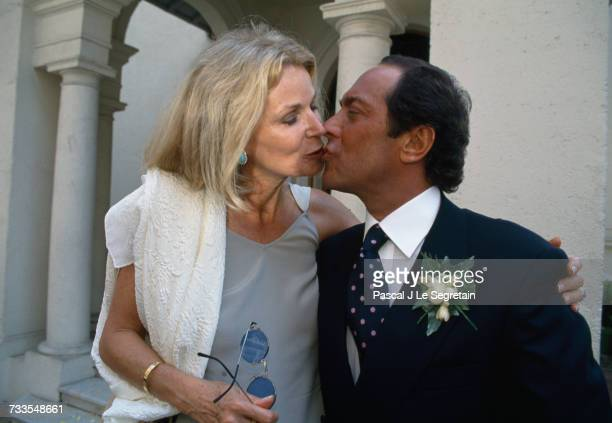 Singer and songwriter Paul Anka kisses his wife Anne at their daughter's wedding The couple's daughter Alexandra married Yorg Muller in a ceremony in...