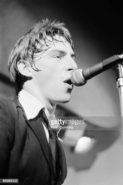 Singer and songwriter Paul Weller performing with English rock group The Jam at the Electric Circus Manchester 16th August 1977 The performance is to...