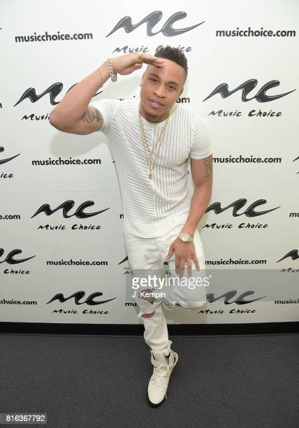 Singer and songwriter Rotimi visits Music Choice on July 17 2017 in New York City