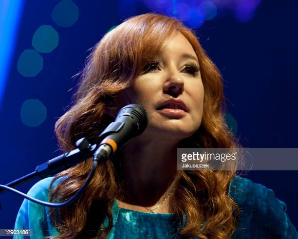 US singer and songwriter Tori Amos performs live during a concert rehearsal at the Tempodrom on October 11 2011 in Berlin Germany