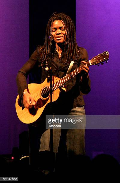 Singer and songwriter Tracy Chapman performs live during a concert in the Tempodrom on November 1, 2005 in Berlin, Germany. The concert was part of...