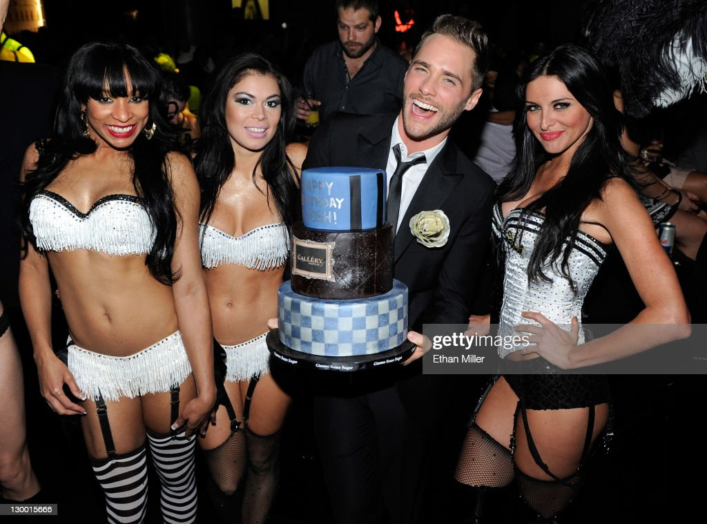 """""""Real Housewives Of Beverly Hills"""" Star Dana Wilkey And Josh Strickland At Gallery Nightclub In Las Vegas"""