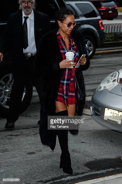 Singer and television personality Mel B enters her Tribeca hotel on January 18 2017 in New York City