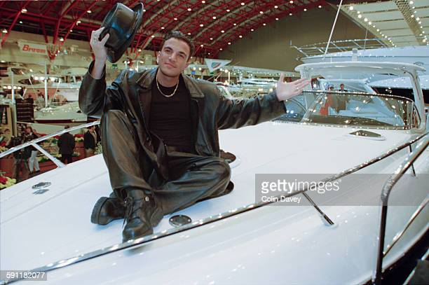Singer and television personality Peter Andre at the opening of the London Boat Show in Earl's Court London UK 8th January 1998