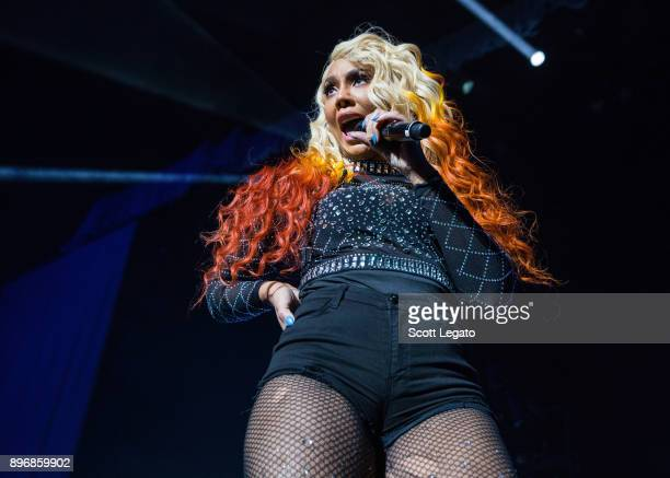 Singer and television personality Tamar Braxton performs during The Great Escape Tour at Little Caesars Arena on December 21, 2017 in Detroit,...