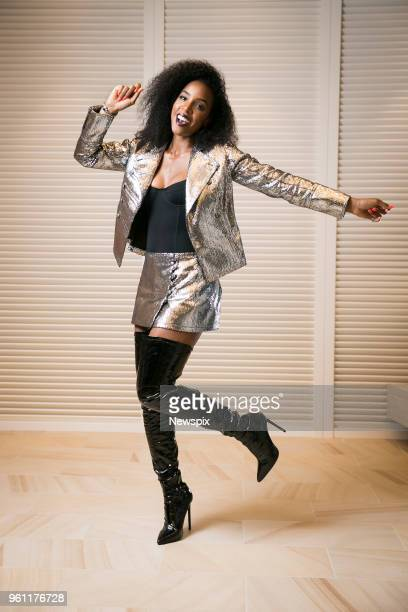 SYDNEY NSW Singer and 'The Voice' coach Kelly Rowland poses during a photo shoot in Sydney New South Wales