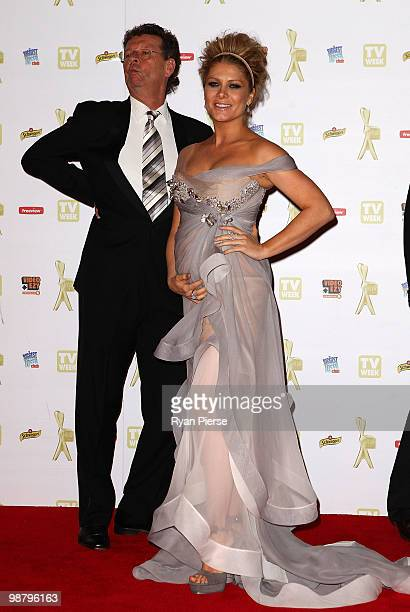 Singer and TV host Natalie Bassingthwaighte and Red Symons arrive at the 52nd TV Week Logie Awards at Crown Casino on May 2 2010 in Melbourne...