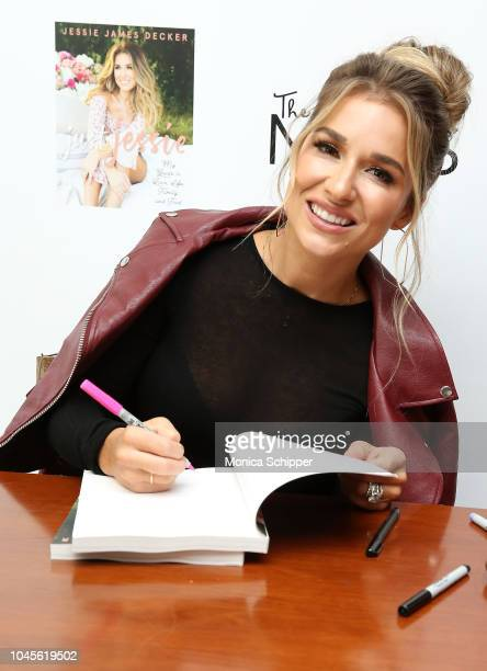Singer and TV personality Jessie James Decker signs copies of her book at The MOMS And Jessie James Decker Celebrate Her New Book Just Jessie at...