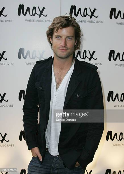Singer and TV presenter Axle Whitehead attends the Max Sessions concert series for US Rock group Snow Petrol at the Hordern Pavilion on November 17...