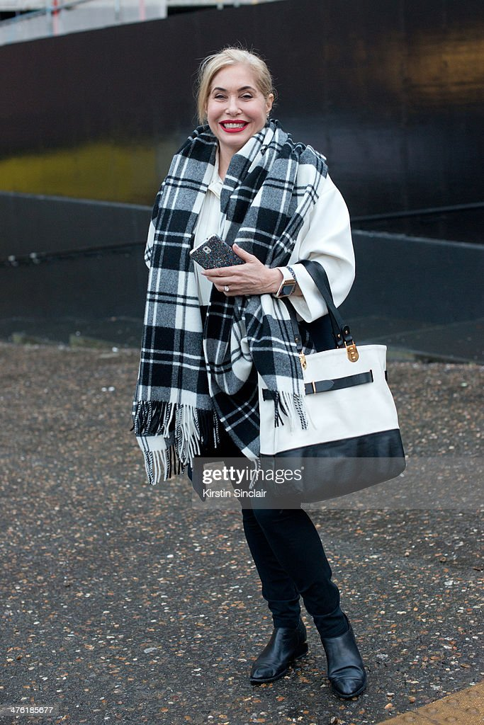 Singer and TV Presenter Brix Smith Start on day 5 of London Collections: Women on February 18, 2014 in London, England.
