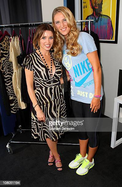 Singer and TV presenter Dannii Minogue meets and styles tennis player Victoria Azarenka in one of her Project D dresses ahead of next week's...