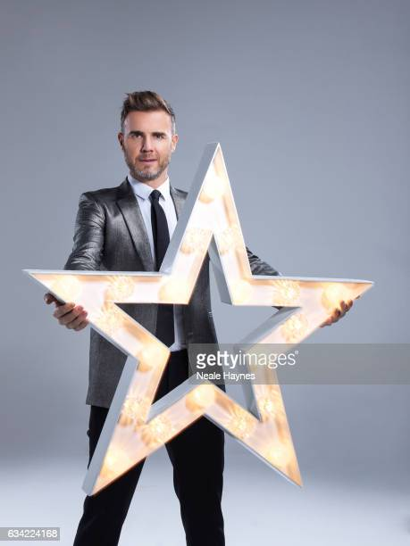 Singer and tv presenter Gary Barlow is photographed for the Daily Mail on December 12 2016 in London England