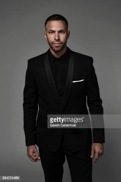 Singer and tv presenter Marvin Humes is photographed at the National Television Awards on January 25 2017 in London England