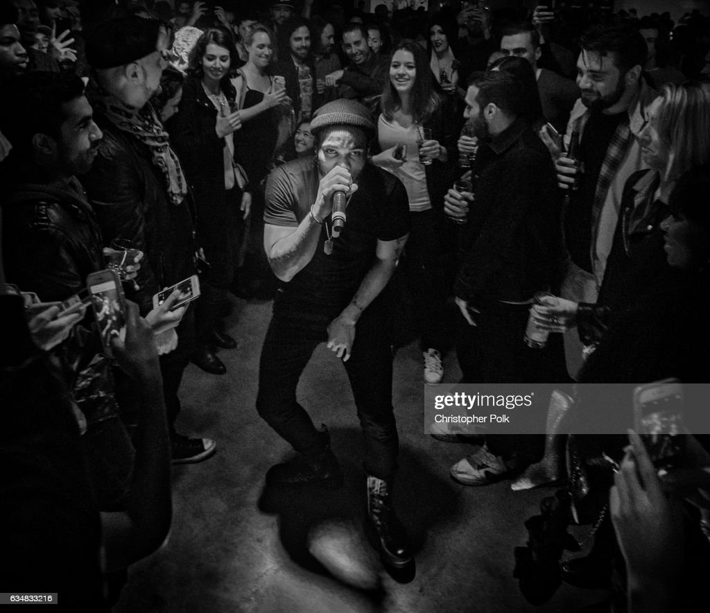 Best New Artist GRAMMY nominee Anderson .Paak & The Free Nationals perform at the Masterpass #ThankTheFans House presented by Billboard and Mastercard
