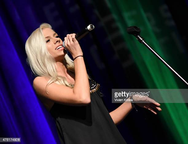 Singer Andie Case performs at the TMA Manager of the Year Award at The TMA 2015 Heller Awards on May 28 2015 in Century City California