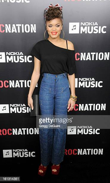 Singer Andra Day arrives at Roc Nation Pre-GRAMMY brunch at Soho House on February 9, 2013 in West Hollywood, California.