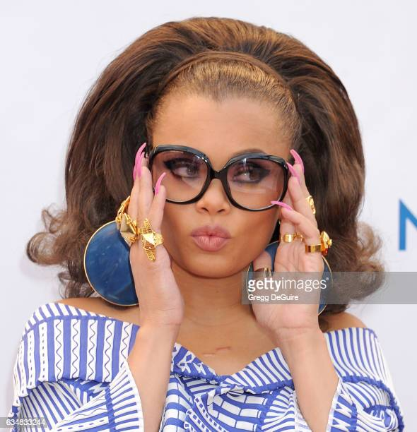 Singer Andra Day arrives at the 48th NAACP Image Awards at Pasadena Civic Auditorium on February 11 2017 in Pasadena California
