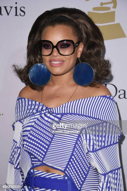 Singer Andra Day attends PreGRAMMY Gala and Salute to Industry Icons Honoring Debra Lee at The Beverly Hilton on February 11 2017 in Los Angeles...