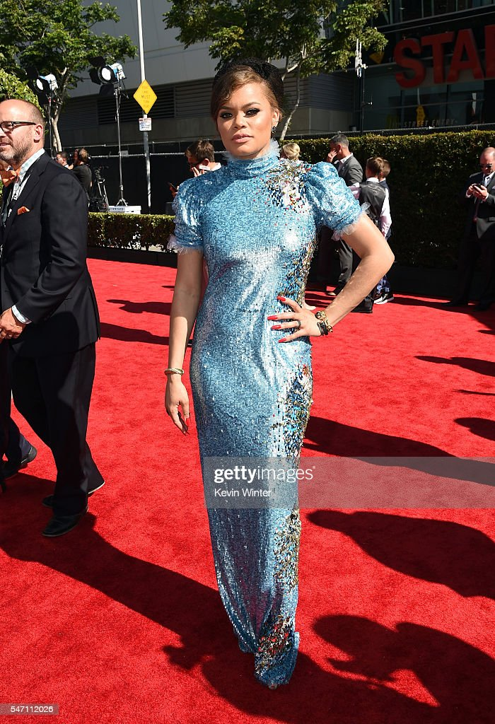 Singer Andra Day attends the 2016 ESPYS at Microsoft Theater on July 13, 2016 in Los Angeles, California.