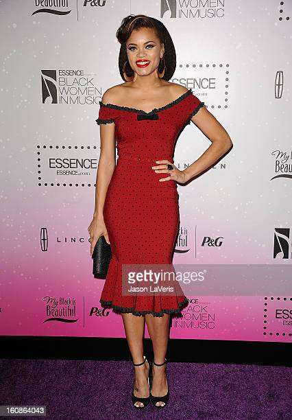 Singer Andra Day attends the 4th annual ESSENCE Black Women In Music event at Greystone Manor Supperclub on February 6, 2013 in West Hollywood,...