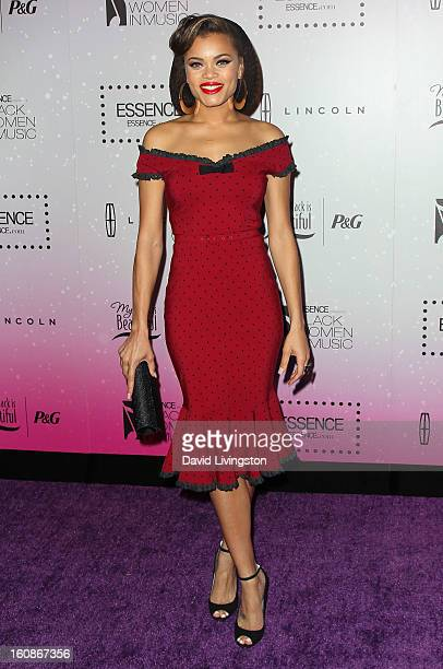 Singer Andra Day attends the 4th Annual ESSENCE Black Women In Music honoring Lianne La Havas and Solange Knowles at Greystone Manor Supperclub on...