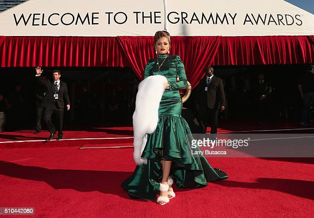 Singer Andra Day attends The 58th GRAMMY Awards at Staples Center on February 15 2016 in Los Angeles California